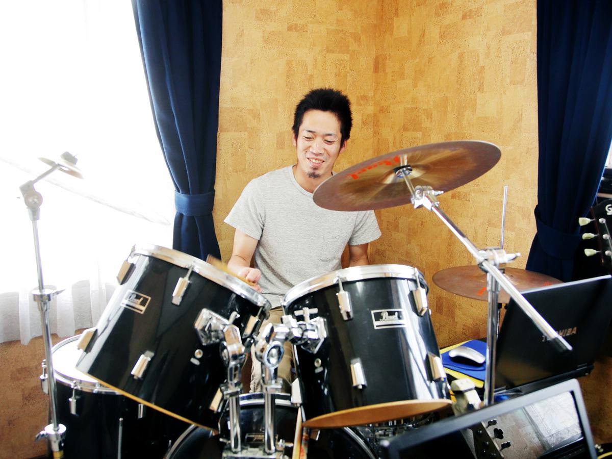 岡山市音楽教室ドラムレッスン 堀川ミュージックスクール