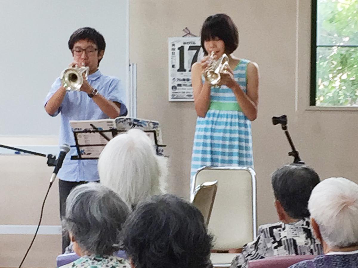 音楽を通してボランティア活動を行っています。